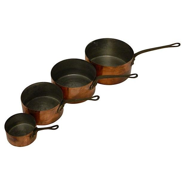 Metaux-Ouvres-Vesoul French Copper Pots - S/4 - Image 2 of 6