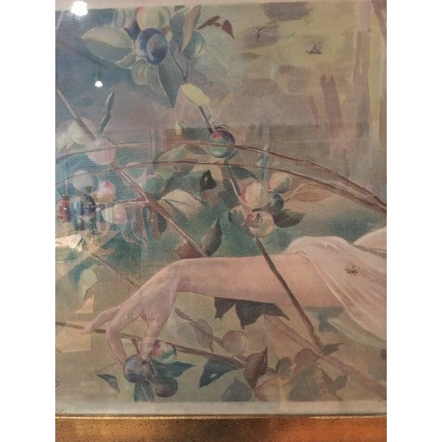 Art Nouveau 'Lady & Flowers' Poster - Image 8 of 10