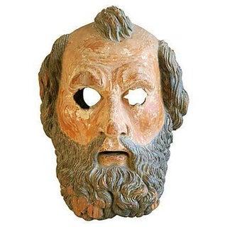 Antique 19th Century Italian Carved Figure/Mask