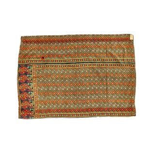 Reversible Hand-Stitched Indian Patchwork Kantha Throw Blanket