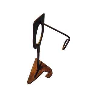 Mid-Century Modern Abstract Sculptural Wood Wine Holder