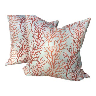 Coral & Pink Pillows - a Pair