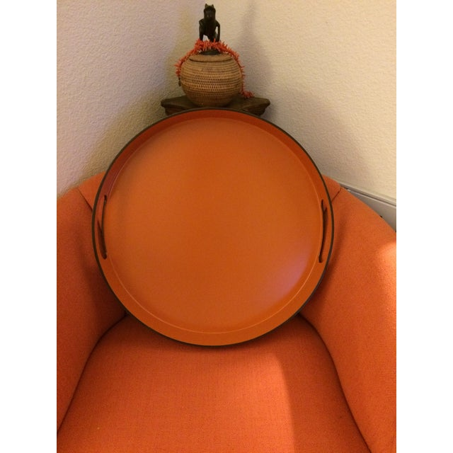 Hermes Style Orange Lacquer Serving Tray - Image 5 of 10