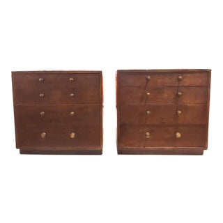Pair, Mid Century Signed John Stuart Matching Chests of Drawers