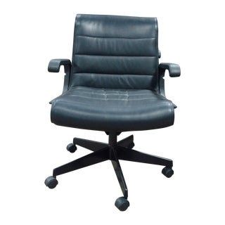 Knoll Sapper Mid Back - Black Leather Office Chair