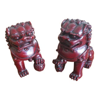 Small Chinese Foo Dogs - A Pair
