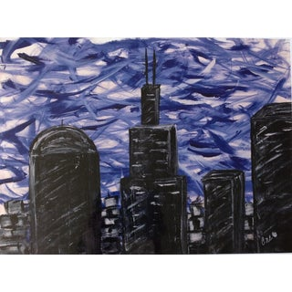 """Chicago"" Oil Painting Print"