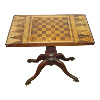 19th-C. Parquet Game Table