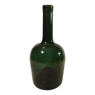 French Green Cognac Wine Bottle