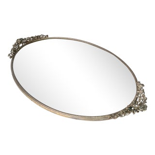 Art Deco Pewter Mirrored Tray