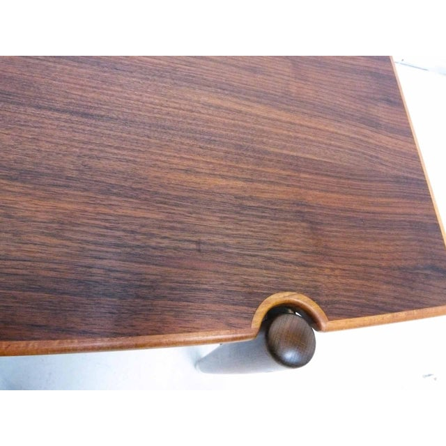 Dux Mid-Century Coffee Table with Cane Shelf - Image 9 of 10