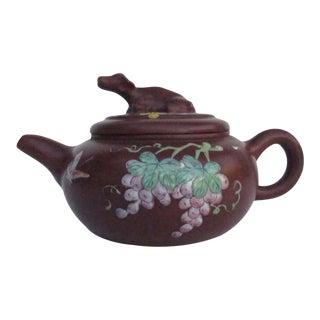 Chinese Handmade Buffalo & Fruit Zisha Teapot