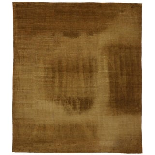 Vintage Tibetan Brown Rug with Minimalist Style, 13'11 x 16'00