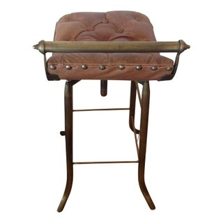 Seelbach Industrial Leather Bar Stool