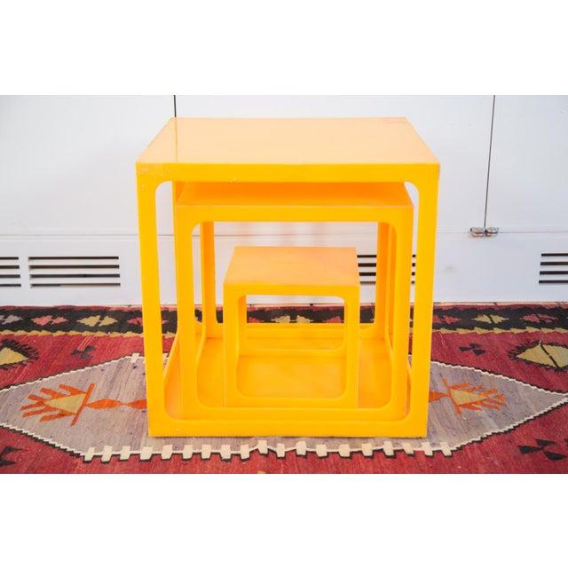 Retro Tangerine Nesting Cubes- Set of 3 - Image 3 of 6