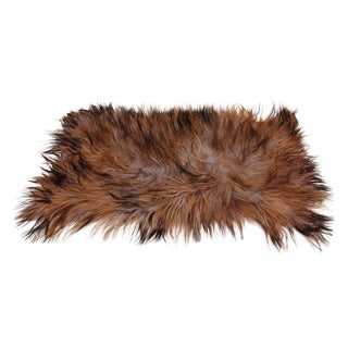 Black Taupe and Brown Goat Skin Rug