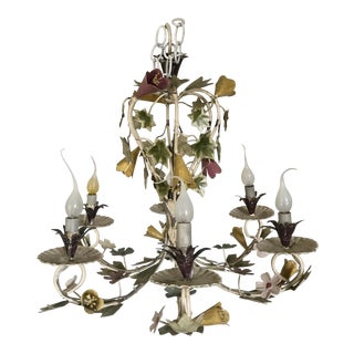 Italian Hand-Painted Tole Chandelier