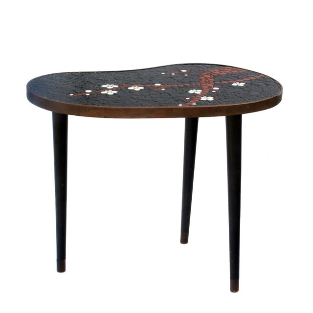 Atomic-Style Mosaic Side Tables - A Pair - Image 2 of 4