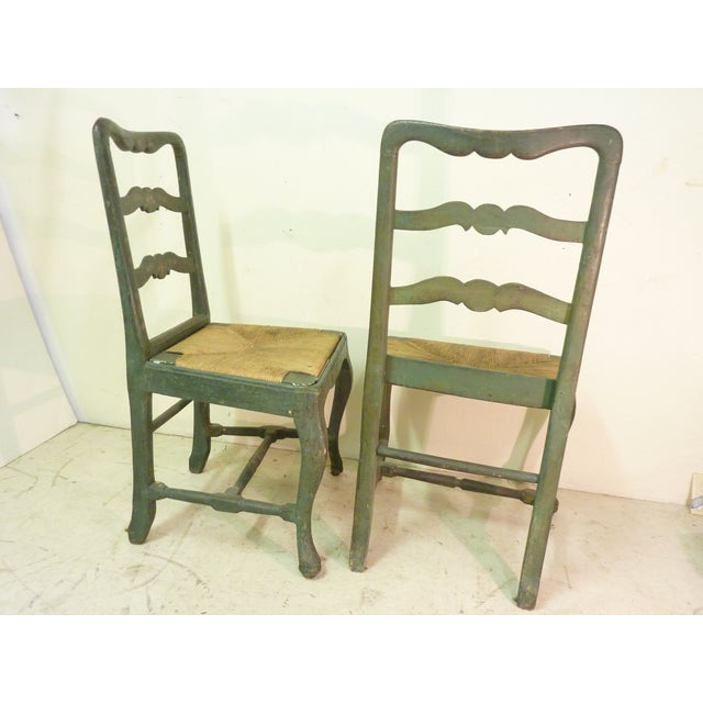18th C. French Painted Chairs - A Pair - Image 3 of 6