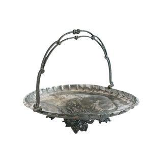Antique Silver-Plate Basket