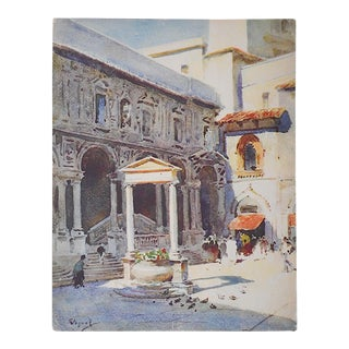 Vintage Lithograph Norther Italy, Milan
