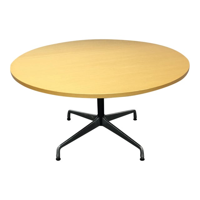 Herman Miller Eames Round Ash Dining Table - Image 1 of 8
