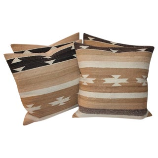 Group of Four Chinle Navajo Weaving Pillows