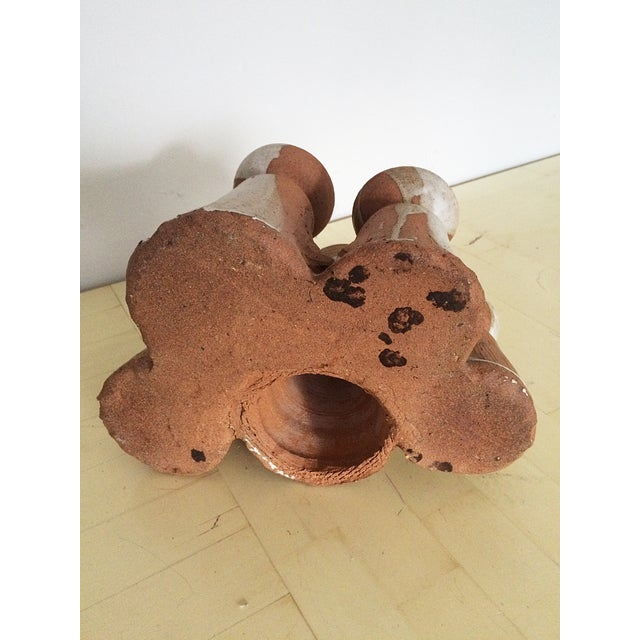 Mid-Century Studio Pottery Candle Holder - Image 10 of 10