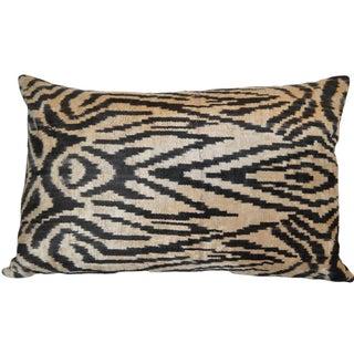 Ballard Silk Velvet Ikat Pillow