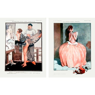 "1926 La Vie Parisienne ""Posing Pretty"" Prints - Pair"