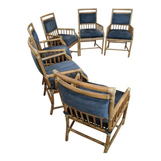 McGuire Rattan Accent Dining Chairs - Set of 6