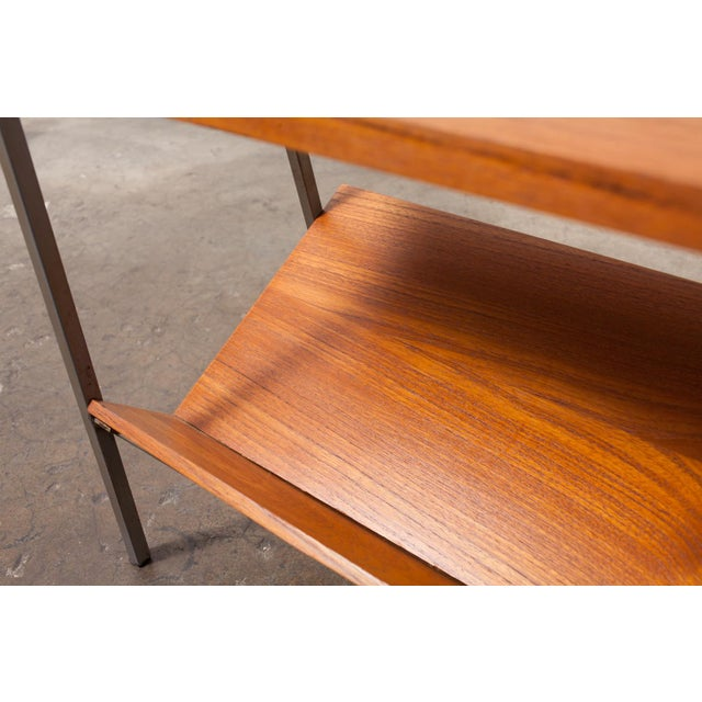 Image of Mid-Century Teak & Metal Telephone Table