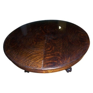 Antique Claw Pedestal Coffee Table