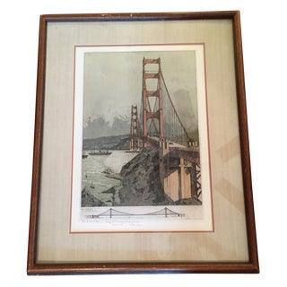 Joseph Eidenberger Golden Gate Bridge Etching