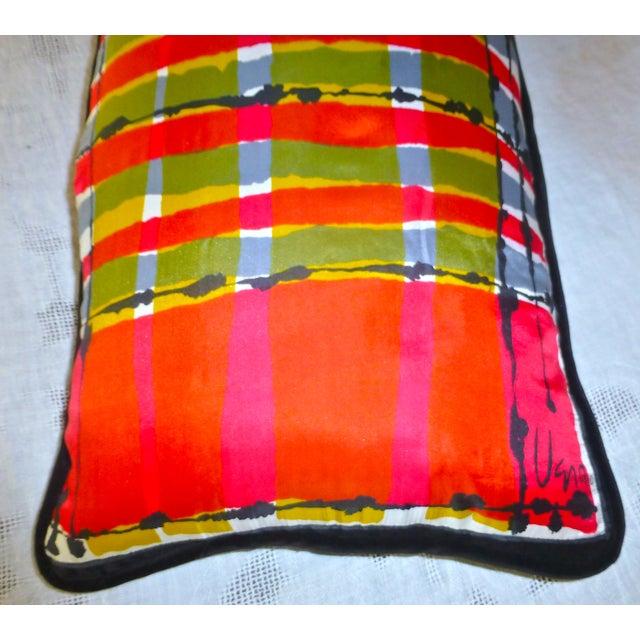 Custom Mid-Century Vera Neumann Scarf Pillow - Image 3 of 6