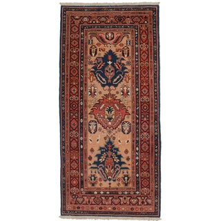 "RugsinDallas Persian Heriz Hand Knotted Wool Rug - 5'1"" X 10'9"""