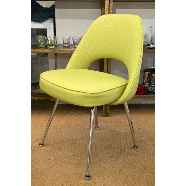 Saarinen Executive Side Chair, Honey Dew Green - Image 6 of 8