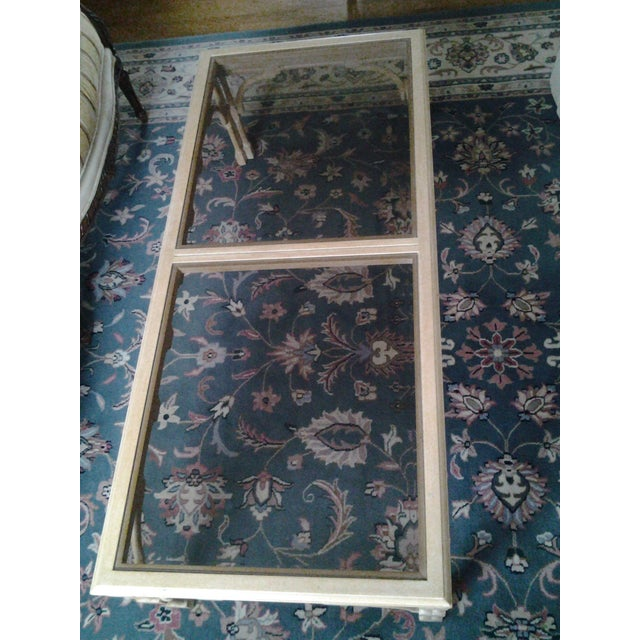 Transitional Wood & Glass Coffee Table - Image 7 of 7