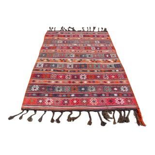 Vintage Turkish Kilim Rug - 4′8″ × 7′5″