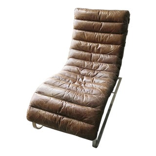 Restoration Hardware Leather Chaise