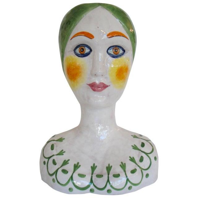 Image of Large Italian Woman Head Vase