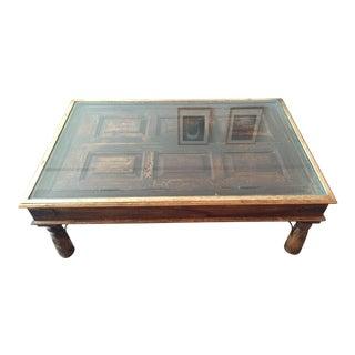 Handmade Wooden Door Coffee Table
