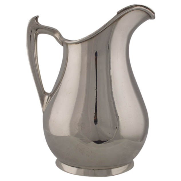 Image of Vintage Silver Plate Water Pitcher or Vase
