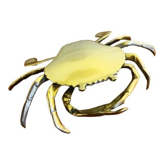 Vintage Brass Lidded Crab