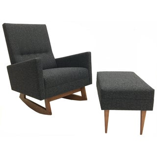 Mid Century Modern Style Rocking Chair and Ottoman