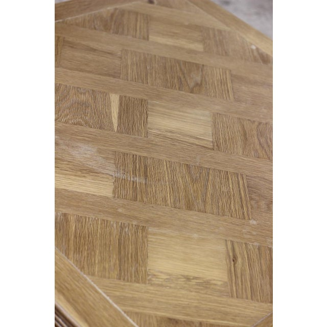 Image of Square Parquet Wood Coffee Table
