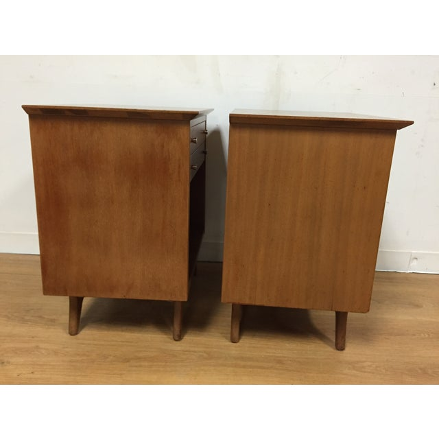 Image of R-Way Vintage Bleach Mahogany Nightstands - A Pair