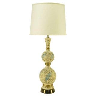 Double Gourd Form Parcel Gilt Plaster Table Lamp