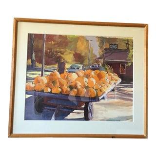 """Original Tom McCobb """"Woodstock"""" Watercolor Painting"""