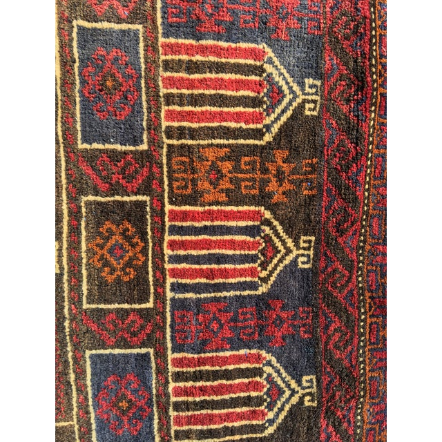 Vintage Persian Baluchi Small Area Rug- 2′10″ × 4′4″ - Image 6 of 8
